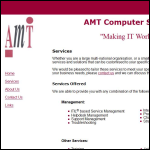 Screen shot of the Amt Computer Services Ltd website.