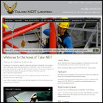 Screen shot of the Talon NDT Ltd website.