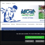 Screen shot of the MiCraft Ltd website.