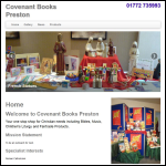 Screen shot of the Covenant Books (Preston) website.