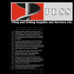 Screen shot of the Piling & Drilling Supplies & Services Ltd website.