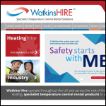 Screen shot of the Watkins Hire Ltd website.