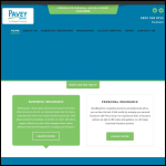 Screen shot of the Pavey Group Ltd website.
