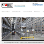 Screen shot of the Stodec Products Ltd website.