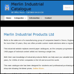 Screen shot of the Merlin Industrial Products Ltd website.