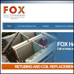 Screen shot of the Fox Heat Exchangers website.