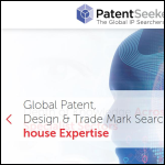 Screen shot of the Patent Seekers Ltd website.