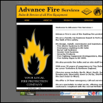 Screen shot of the ADVANCE FIRE SERVICES website.