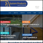 Screen shot of the S G System Products Ltd website.