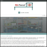 Screen shot of the Rea Plasrack Ltd website.