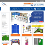 Screen shot of the R A L Display & Marketing Ltd website.