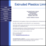 Screen shot of the Extruded Plastics Ltd website.