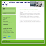 Screen shot of the Addison Vocational Training website.