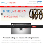 Screen shot of the Pneu-therm Ltd website.