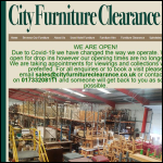 Screen shot of the City Furniture (Clearance) Ltd website.