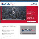 Screen shot of the Whale Fire website.