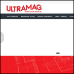 Screen shot of the Ultramag Inspection Services Ltd website.