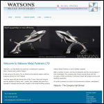 Screen shot of the Watsons Metal Polishers Ltd website.