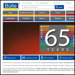 Screen shot of the Bulte Plastics (UK) Ltd website.