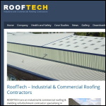 Screen shot of the RoofTech website.