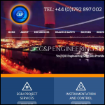 Screen shot of the C & P Engineering Services Ltd website.