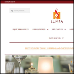 Screen shot of the Lumea Candle Lamps website.