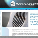 Screen shot of the West Special Fasteners Ltd website.