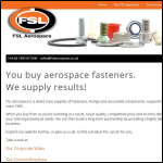 Screen shot of the FSL Aerospace Ltd website.