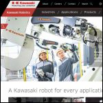 Screen shot of the Kawasaki Robotics (UK) Ltd website.