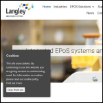 Screen shot of the Langley Business Systems (Retail) Ltd website.