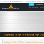 Screen shot of the Gunning Heating Products Ltd website.