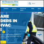 Screen shot of the All Seasons Hire Ltd website.