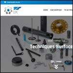 Screen shot of the Techniques Surfaces UK Ltd website.