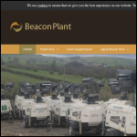 Screen shot of the Beacon Plant Ltd website.
