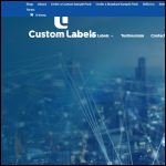 Screen shot of the Custom Labels Ltd website.