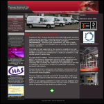 Screen shot of the Thomas Electrical Ltd website.