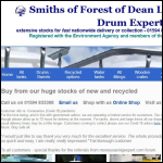 Screen shot of the Smiths of the Forest of Dean Ltd website.