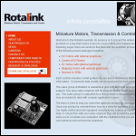 Screen shot of the Rotalink Ltd website.