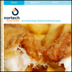 Screen shot of the Nortech Foods Ltd website.