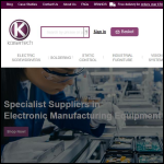 Screen shot of the Kaisertech Ltd website.