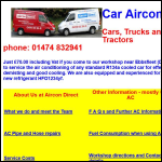Screen shot of the Aircon Direct for Cars website.