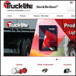 Screen shot of the Truck-Lite Europe website.