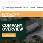 Screen shot of the Greenfield Engineering Group Ltd website.