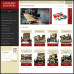 Screen shot of the Lakeland Hampers website.