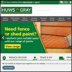 Screen shot of the Huws Gray (Leigh Concrete) website.
