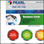Screen shot of the Pearl Print & Design Ltd website.