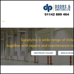 Screen shot of the DP Doors & Shutters Ltd website.