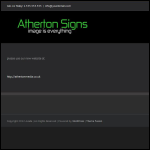 Screen shot of the Atherton Signs Ltd website.