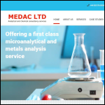 Screen shot of the MEDAC Ltd website.