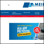 Screen shot of the Meir Roofing & Insulation Supplies website.
